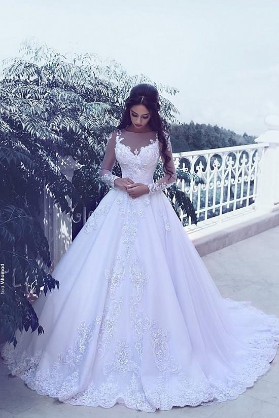 Brautkleider Gã¼Nstig Kaufen | Brautkleider Gunstig Fashion A Linie Brautkleider Mit Armel