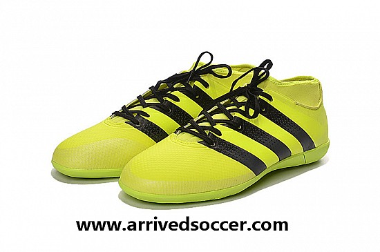 new product bbadc 5dcd0 Adidas Ace 16.3 Primemesh Indoor Football Trainers - Solar Yellow Core Black Silver  Metallic na sport shoes.