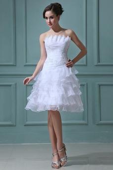 Vestidos cortos de novia corte princesa